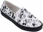 Melissa Ground + Mickey black flocked trampki