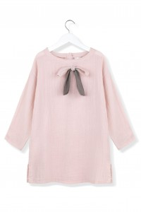 Kids On The Moon pink ink bow dress