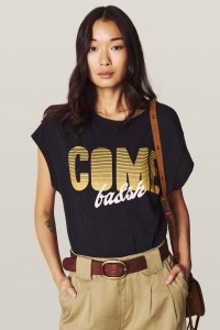 ba&sh Coby carbone t-shirt