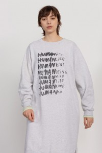 Humanoid Hobo Mel Birch Heather Print sukienka