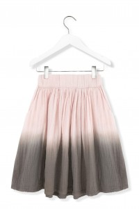 Kids On The Moon pink watercolour skirt