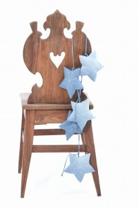 Kids On The Moon tatrica denim stars garland