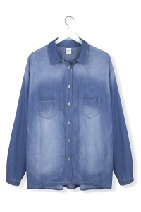 By The Moon - Blue Line Denim Shirt