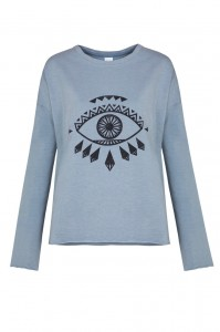 By The Moon - Weeping Eye sweatshirt niebieski