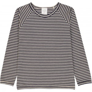 Kids On The Moon striped longsleeve sand/dark blue
