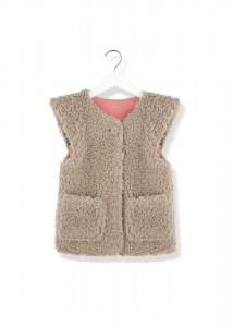 Kids On The Moon gerda faux fur vest