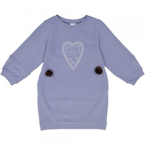 Kids On The Moon heart sweatdress