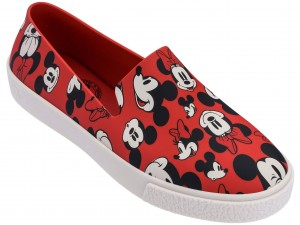Melissa Ground + Mickey red/white/black trampki