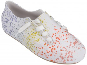 Melissa Ulitsa Sneaker Splash white/orange trampki
