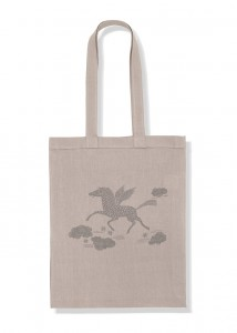 Kids On The Moon pegasus tote bag
