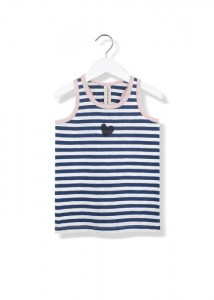 Kids On The Moon sailor heart tank top