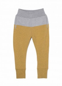 Kids On The Moon two coloured jersey pants grey/saffron