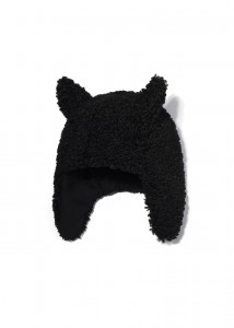 Kids On The Moon faun faux fur cap black