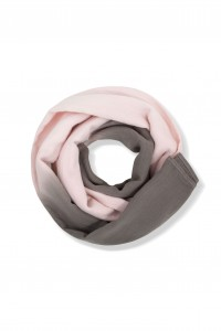 Kids On The Moon pink watercolour scarf