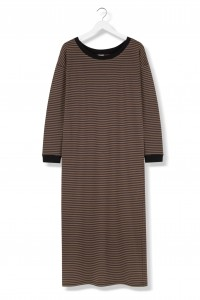 By The Moon Chocolate Stripes Dress