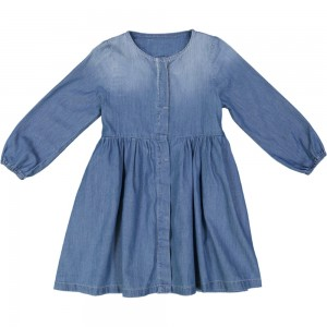 Kids On The Moon heart denim dress