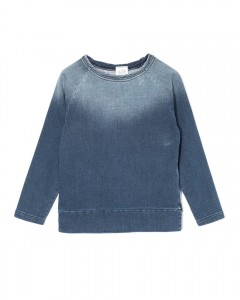 Kids On The Moon stretch denim sweatshirt