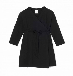 Kids On The Moon kimono jersey dress black