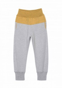 Kids On The Moon two coloured jersey pants saffron/grey