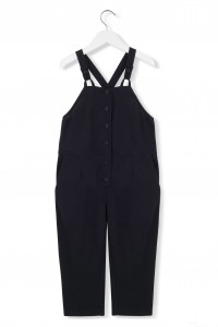 Kids On The Moon black ink dungarees